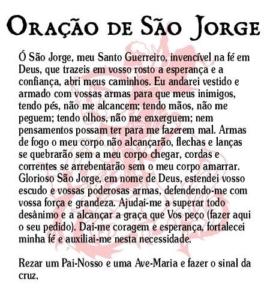 Oração de São Jorge Original