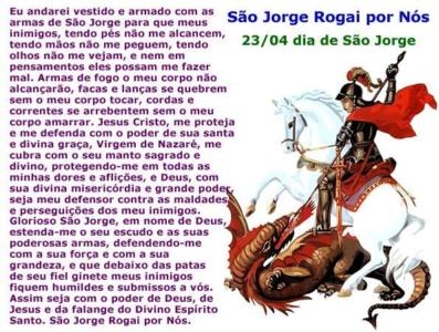 Dia de São Jorge 23 de abril