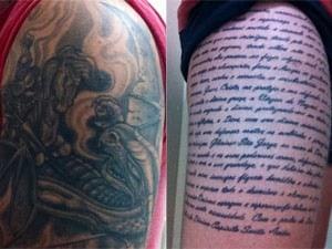 Tatuagem de São Jorge Ogum