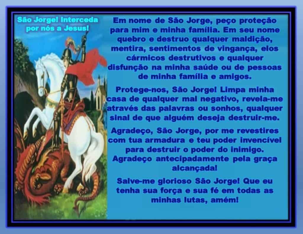 20 Imagens com oração para São Jorge 3